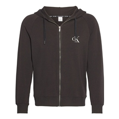 Black - One Lounge Terry Zip Through by Calvin Klein