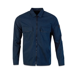 Hugo Boss Dk Blue - Boxy-Fit Shirt Jacket