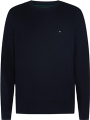 Tommy Hilfiger Navy - Honeycomb Knit Crew Neck Jumper