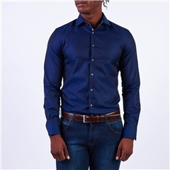 Marco Capelli Dark Navy - Luxury Fine Soft Twill Shirt
