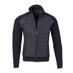 Marco Capelli Navy - Padded James Quilted Sweat Jacket I