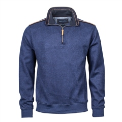 Marco Capelli Denim - Soft Suedine Half Zip Jumper
