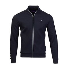 Marco Capelli Navy - Thomas Full Zip Jersey Sweatshirt
