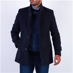 Marco Capelli Navy - Wool Tailored Fit Coat