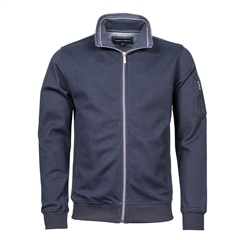 Marco Capelli Navy - Structured Full Zip Jumper