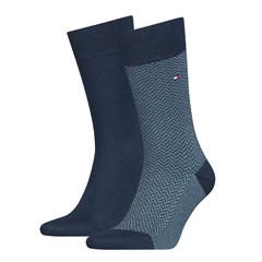 Blue - 2pack Micro Geo Socks by Tommy Hilfiger