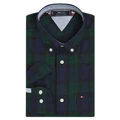 Tommy Hilfiger Green - Flex Regular Fit Check Shirt