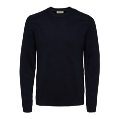 Selected Navy - Bjorn Crfew Knit