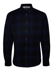 Selected Navy - Adrian Cord Shirt