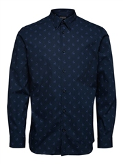 Selected Navy - Reign All Over Print Shirt