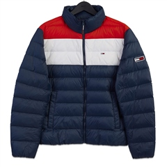 Tommy Jeans Navy - Colorblock Light Down Jacket