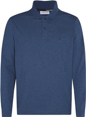Calvin Klein Dark Denim - Liquid Touch Long Sleeve Polo