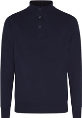 Calvin Klein Navy - Wool Blend Contrast Trim 1/4 Zip