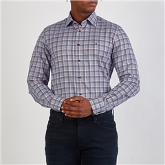 Tommy Hilfiger Multi - Twill Blue Base Check Shirt Ls