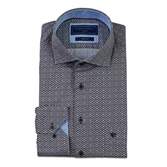 Marco Capelli Multi - Luxury Satin Circle Print Shirt