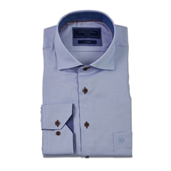 Light Blue - Mini Diamond Twill Shirt by Marco Capelli