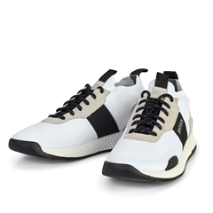Hugo Boss White - Titanium Running Style Trainers