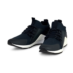 Hugo Boss Navy - Hybrid Knit Runner Trainers