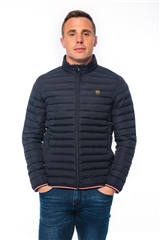 Xv Kings By Tommy Bowe Navy - Quilted Jacket With Trim