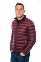Xv Kings By Tommy Bowe Wine - Lightweight Quilted Jacket