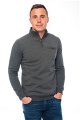 Xv Kings By Tommy Bowe Grey - Half Zip Sweatshirt