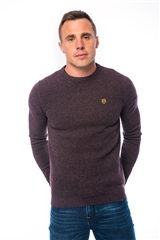 Plum - Crew Neck Rice Knit by Xv Kings By Tommy Bowe