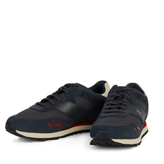 Hugo Boss Navy - Parkour Leather Trainers