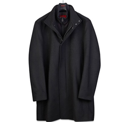 Hugo Black - Meyer Wool Blend Coat