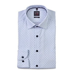 Olymp White - Print Level 5 Body Fit Shirt