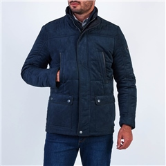 Sea Barrier Navy - Quilted Short Coat