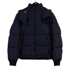 Hugo Boss Dark Blue - Olloh Hooded  Jacket