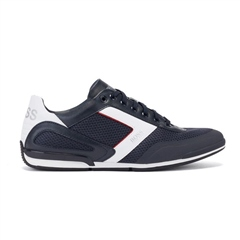 Hugo Boss Navy - Saturn Mesh Low Profile Sneaker