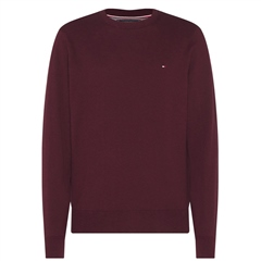 Tommy Hilfiger Burgundy - Pima Cotton Cashmere Crew Neck Knit
