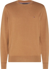 Tommy Hilfiger Oatmeal - Pima Cotton Cashmere Crew Neck Knit
