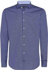 Tommy Hilfiger Navy - Poplin Check Slim Fit Shirt