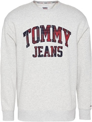 Tommy Jeans Light Grey - Plaid Crew Sweat