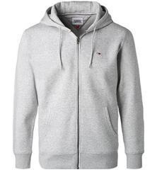 Tommy Jeans Light Grey - Tjm Regular Fleece Zip Hood