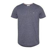 Navy - Tjm Slim Jaspe Crew Neck by Tommy Jeans