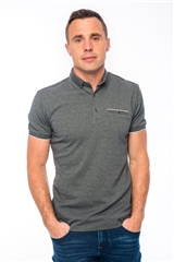 Xv Kings By Tommy Bowe Grey - Chest Pocket Polo Shirt