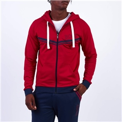 Red - Authentic Hooded Zip Thru Jacket by Hugo Boss