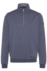 Bugatti Navy - Half Zip Pin Dot Sweatshirt