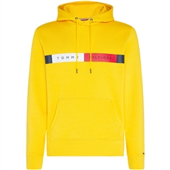 Tommy Hilfiger Yellow - Tommy Flag Logo Hooded Sweatshirt