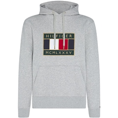 Tommy Hilfiger Grey - Tommy Icon Badge Hooded Sweatshirt