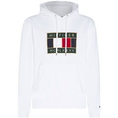 Tommy Hilfiger White - Tommy Icon Badge Hooded Sweatshirt