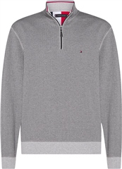 Tommy Hilfiger Grey - Tommy Herringbone Mock Neck Sweatshirt