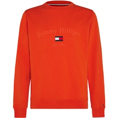 Tommy Hilfiger Orange - Tommy Arch Flag Logo Crewneck Sweatshirt