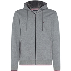 Grey - Basic Fur Lined Hooded Zip Through by Tommy Hilfiger