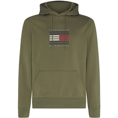 Tommy Hilfiger Olive - Tommy Luxury Hooded Sweatshirt