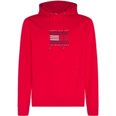 Tommy Hilfiger Red - Tommy Luxury Hooded Sweatshirt