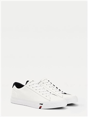 Tommy Hilfiger White - Corporate Leather Sneaker